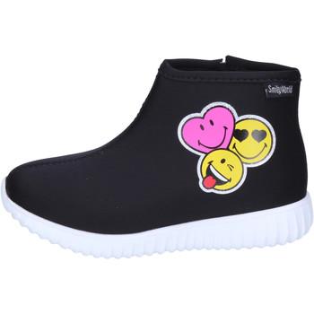 kengät Tytöt Nilkkurit Smiley  Musta