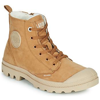kengät Naiset Bootsit Palladium PAMPA HI ZIP WL W Ruskea
