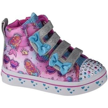 kengät Lapset Korkeavartiset tennarit Skechers Twilites Mermaid Gems Vaaleanpunainen