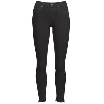 vaatteet Naiset Slim-farkut Noisy May NMKIMMY Musta