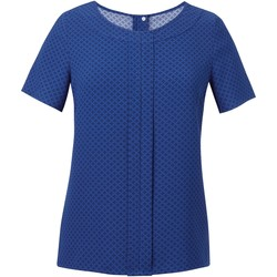 vaatteet Naiset Topit / Puserot Brook Taverner Crepe De Chine Royal Blue/ Navy