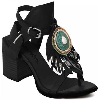 kengät Naiset Korkokengät Rebecca White T0509 |Rebecca White| D??msk?? sand??ly na vysok??m podpatku z ?ern??