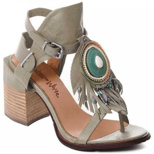 kengät Naiset Korkokengät Rebecca White T0509  Rebecca White  D??msk?? sand??ly na vysok??m podpatku z hov??z?