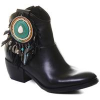 kengät Naiset Nilkkurit Rebecca White T0605 |Rebecca White| D??msk?? ?ern?? ko?en?? kotn??kov?? boty s bloko