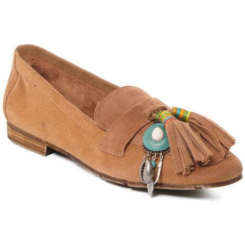 kengät Naiset Mokkasiinit Rebecca White T3506 Beige