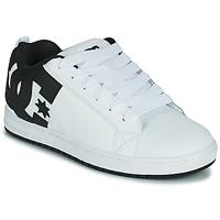 kengät Miehet Skeittikengät DC Shoes COURT GRAFFIK Valkoinen / Musta