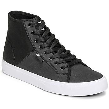 kengät Miehet Korkeavartiset tennarit DC Shoes MANUAL HI TXSE Musta / Valkoinen