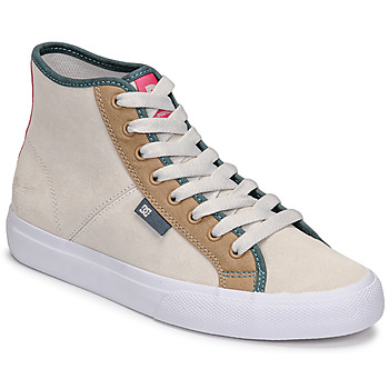 kengät Naiset Korkeavartiset tennarit DC Shoes MANUAL HI SE Beige