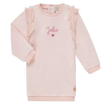 vaatteet Tytöt Lyhyt mekko Carrément Beau ABRICOT Vaaleanpunainen