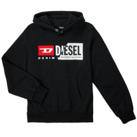 vaatteet Lapset Svetari Diesel SGIRKHOODCUTYX OVER Musta