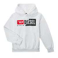 vaatteet Lapset Svetari Diesel SGIRKHOODCUTYX OVER Valkoinen