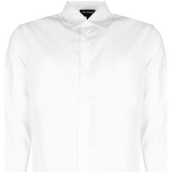 vaatteet Miehet Pitkähihainen paitapusero Les Hommes  Valkoinen