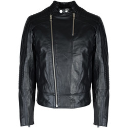 vaatteet Miehet Nahkatakit / Tekonahkatakit Les Hommes  Musta