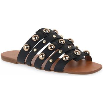 kengät Naiset Sandaalit Miss Unique UNIQUE OURO CALF PRETO BORCHIE Dorato
