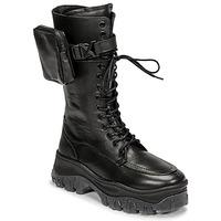 kengät Naiset Bootsit Bronx JAXSTAR HIGH Musta