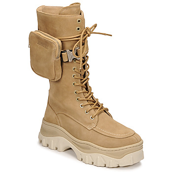 kengät Naiset Bootsit Bronx JAXSTAR HIGH Beige