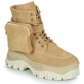 kengät Naiset Bootsit Bronx JAXSTAR MID Beige
