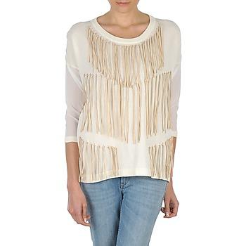 vaatteet Naiset T-paidat pitkillä hihoilla Eleven Paris ANGIE White