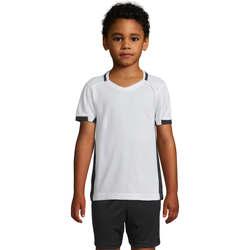 vaatteet Tytöt Lyhythihainen t-paita Sols CLASSICO KIDS Blanco Negro Blanco