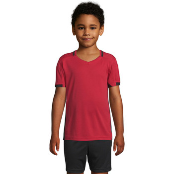 vaatteet Pojat Lyhythihainen t-paita Sols CLASSICO KIDS Rojo Negro Rojo