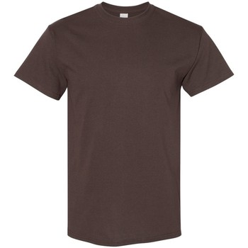 vaatteet Miehet Lyhythihainen t-paita Gildan 5000 Dark Chocolate