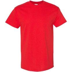 vaatteet Miehet Lyhythihainen t-paita Gildan 5000 Red