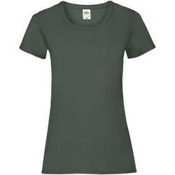 vaatteet Naiset Lyhythihainen t-paita Fruit Of The Loom 61372 Bottle Green