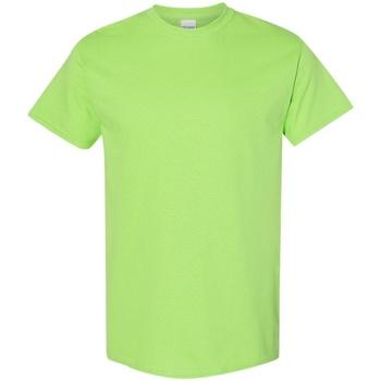vaatteet Miehet Lyhythihainen t-paita Gildan 5000 Lime
