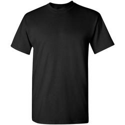 vaatteet Miehet Lyhythihainen t-paita Gildan 5000 Black