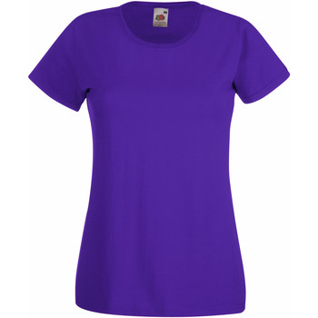 vaatteet Naiset Lyhythihainen t-paita Fruit Of The Loom 61372 Purple