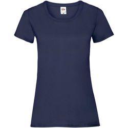 vaatteet Naiset Lyhythihainen t-paita Fruit Of The Loom 61372 Deep Navy