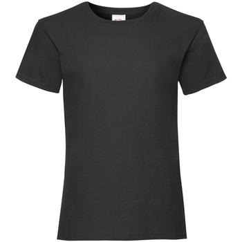 vaatteet Tytöt Lyhythihainen t-paita Fruit Of The Loom 61005 Black