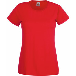 vaatteet Naiset Lyhythihainen t-paita Fruit Of The Loom 61372 Red