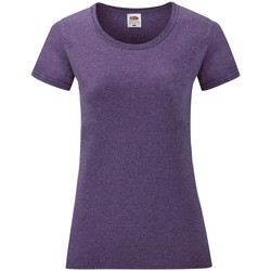 vaatteet Naiset Lyhythihainen t-paita Fruit Of The Loom 61372 Heather Purple