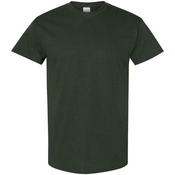 vaatteet Miehet Lyhythihainen t-paita Gildan 5000 Forest Green