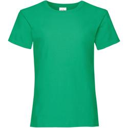 vaatteet Tytöt Lyhythihainen t-paita Fruit Of The Loom 61005 Kelly Green