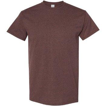 vaatteet Miehet Lyhythihainen t-paita Gildan 5000 Russet