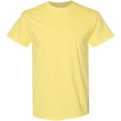 vaatteet Miehet Lyhythihainen t-paita Gildan 5000 Cornsilk