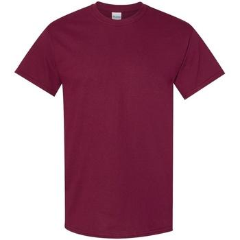 vaatteet Miehet Lyhythihainen t-paita Gildan 5000 Maroon