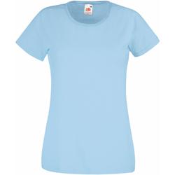vaatteet Naiset Lyhythihainen t-paita Fruit Of The Loom 61372 Sky Blue