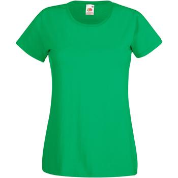 vaatteet Naiset Lyhythihainen t-paita Fruit Of The Loom 61372 Kelly Green