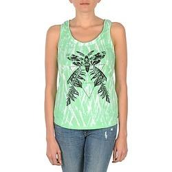 vaatteet Naiset Hihattomat paidat / Hihattomat t-paidat Eleven Paris PAPILLON DEB W Green / White