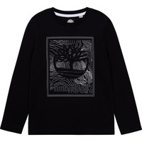 vaatteet Pojat T-paidat pitkillä hihoilla Timberland AIFRET Musta