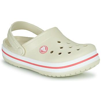kengät Lapset Puukengät Crocs CROCBAND CLOG K Beige / Oranssi