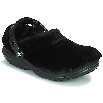 kengät Naiset Puukengät Crocs CLASSIC FUR SURE Musta