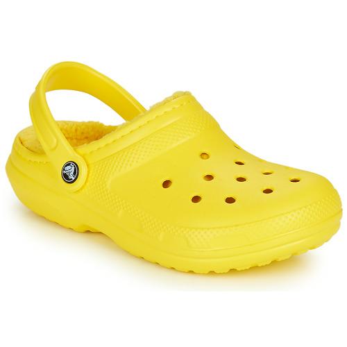 kengät Puukengät Crocs CLASSIC LINED CLOG Keltainen