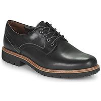 kengät Miehet Derby-kengät Clarks BATCOMBE HALL Musta