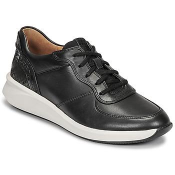 kengät Naiset Matalavartiset tennarit Clarks UN RIO SPRINT Musta