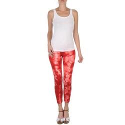 vaatteet Naiset Caprihousut Eleven Paris DAISY Red / White