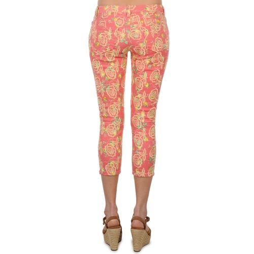 Manoush Pantalon Gipsy Jeans Pink - Ilmainen Toimitus- Vaatteet 7/8 Ja 3/4 Housut Naiset 80